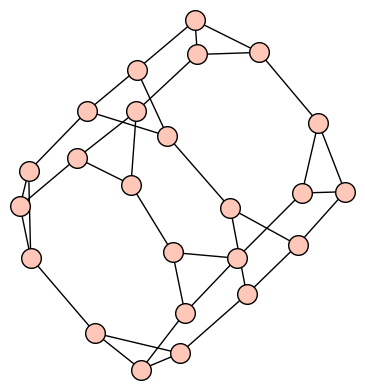 The cube-connected-cycles graph of dim 3